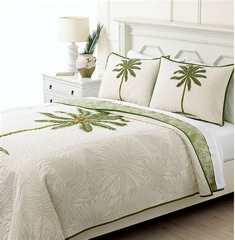 Palm Tree Quilts by Martha Stewart Collection Coconut Palm Reversible