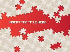 puzzle template for powerpoint and impress