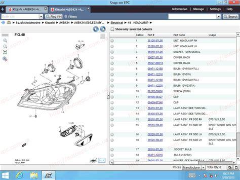 Suzuki Worldwide Suzuki Worldwide Epc5 2013 Parts Catalog