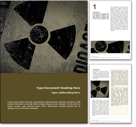 ppt templates for nuclear royalty free nuclear power microsoft word template in yellow
