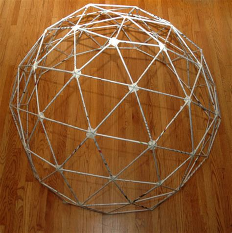 How To Make A Paper Geodesic Dome - how to build a 3 frequency geodesic dome out of newspaper