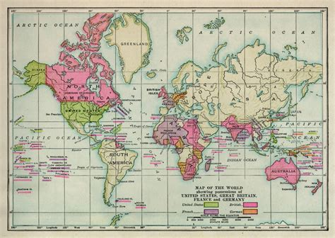 map of the world 1914 world maps kingdoms fall