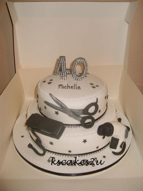 40th Birthday Cakes by Hairdressers 40th Birthday Cake Cakecentral