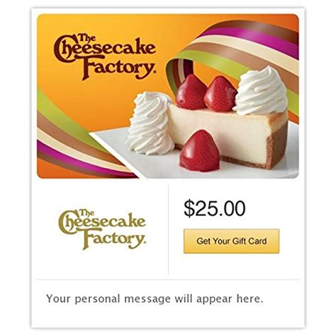 the cheesecake factory gift cards e mail delivery cake