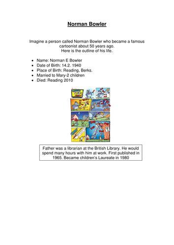 biography task ks2 ks2 level 6 grammar spelling punctuation test by