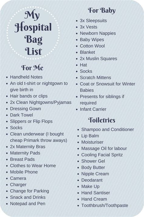 Packing For Hospital C Section List by What To Pack In Your Hospital Bag Checklist Parenting