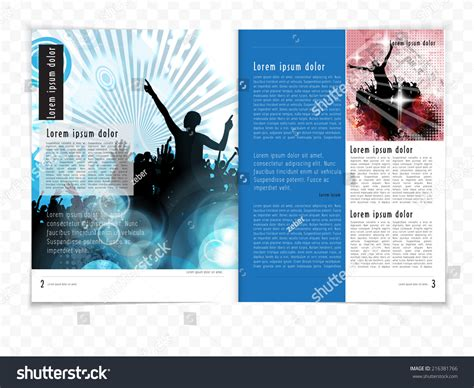 vector layout magazine layout magazine vector 216381766 shutterstock
