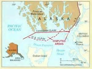 map of canada and alaska border canada alaska border