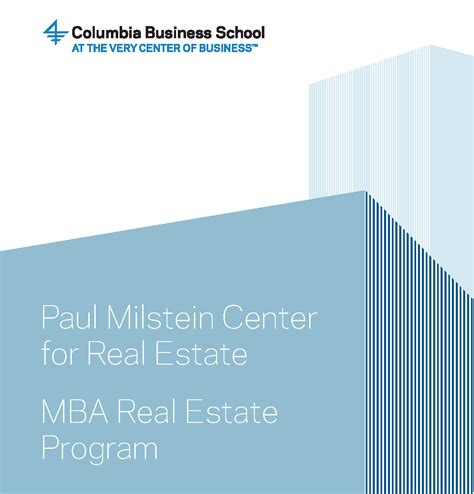 Howard Mba Admission Requirements by Paul Milstein Center For Real Estate