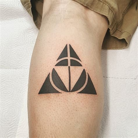 my triforce deathly hallows tattoo harrypotter
