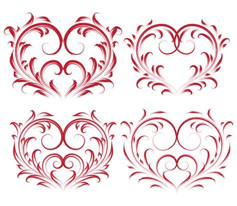 heart shaped pattern code 4 beautiful heartshaped pattern vector free vector 4vector