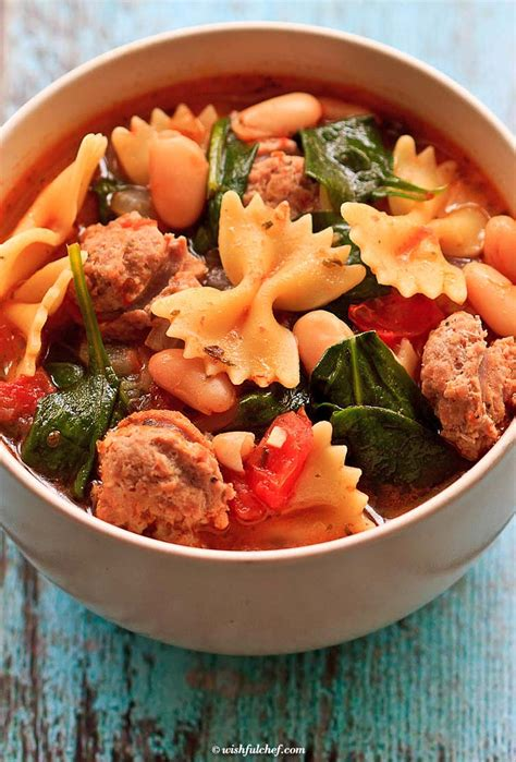 healthy recipes with turkey sausage healthy italian winter soup with turkey sausage wishful chef