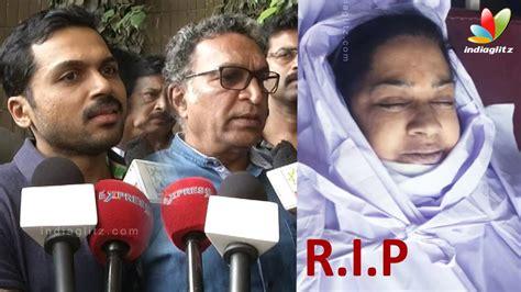 actress kalpana death news karthi kovai sarala nassers s condolence speech to