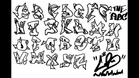 alphabet graffiti sur papier version hd remasterisee