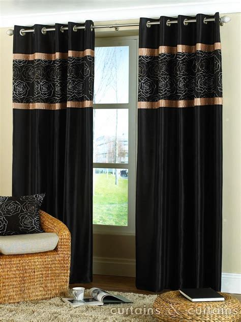 black curtain black curtains with gold shimmers pictures to pin on