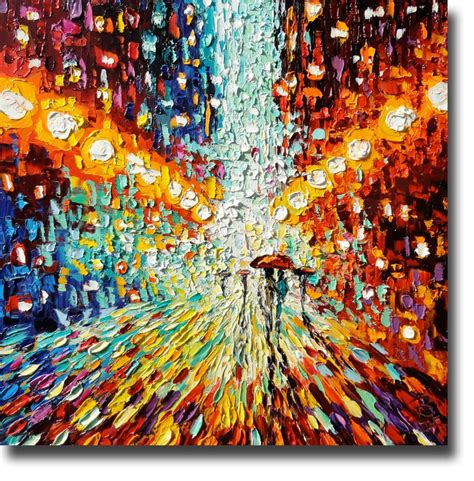 acrylic painting using palette knife painting rainy palette knife painting
