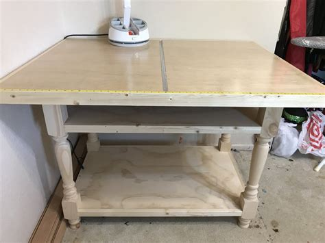 cutting table for sewing fabric by jerry lumberjocks