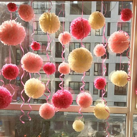 How To Make Tissue Paper Balls To Hang - 2 pcs fashion 8 inch wedding home birthday tissue
