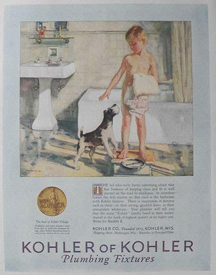 vintage bathroom advertisements 1926 kohler plumbing ad boy dog in bathroom vintage