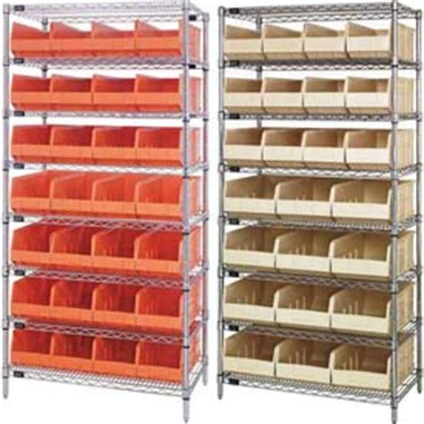 Shelf Containers by Bins Totes Containers Bins Shelving System Chrome