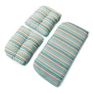 settee cushion set wilson fisher 174 turquoise nantucket outdoor reversible