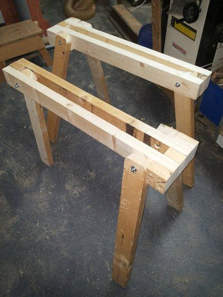 leg foldable sawhorse easy woodworking projects cool