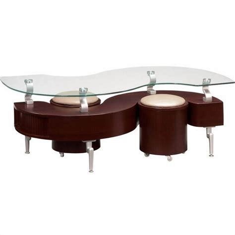 Mahogany And Glass Coffee Table Global Furniture Usa Dontai Glass Top Coffee Table In Mahogany T288mc M