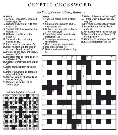 easy crossword puzzles usa today national post cryptic crossword forum november 2009