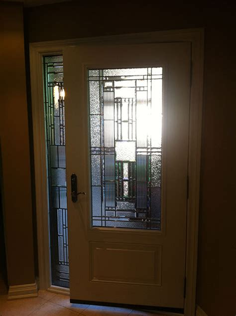 Doors With Side Windows by Windows And Doors Toronto Fiberglass Doors Stained Glass