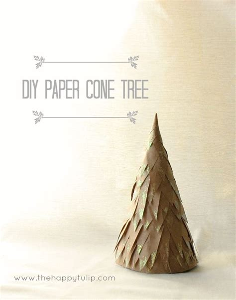 How To Make A Paper Cone Tree - diy paper cone tree decor