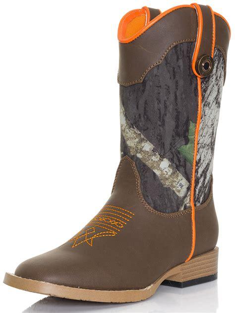 camo boots dbl barrel boy s buckshot mossy oak 174 camo boots kid