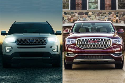 2020 gmc vs ford 2019 ford explorer vs 2019 gmc acadia which is better
