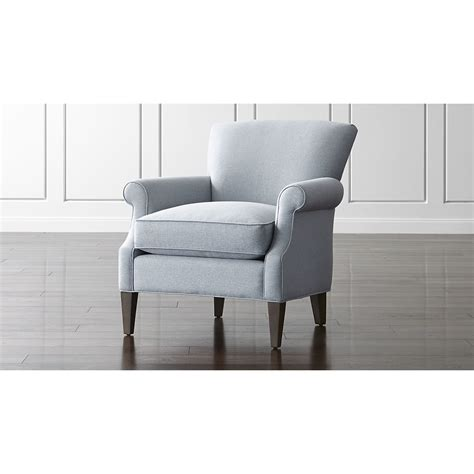 shop elyse light blue accent chair  welting detail contributes   chairs clean