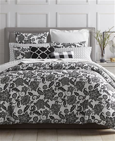 macys bed comforters charter club damask designs black floral bedding