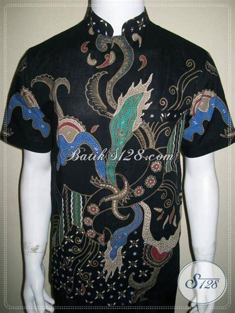 A0683 Kemeja Koko Batik Prada model kerah sanghai pin by podjok batik on dress batik
