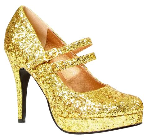 glitter shoes gold glitter shoe 421 g fancy dress