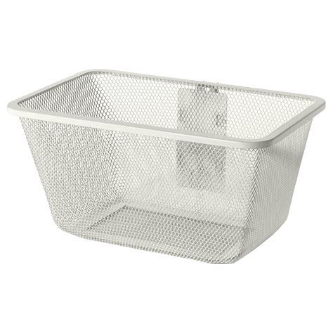 ikea basket algot mesh basket with bracket white 30x22x15 cm ikea