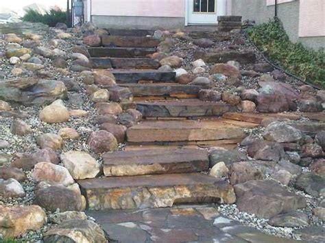 Landscaping A Slope Rock Garden Steps