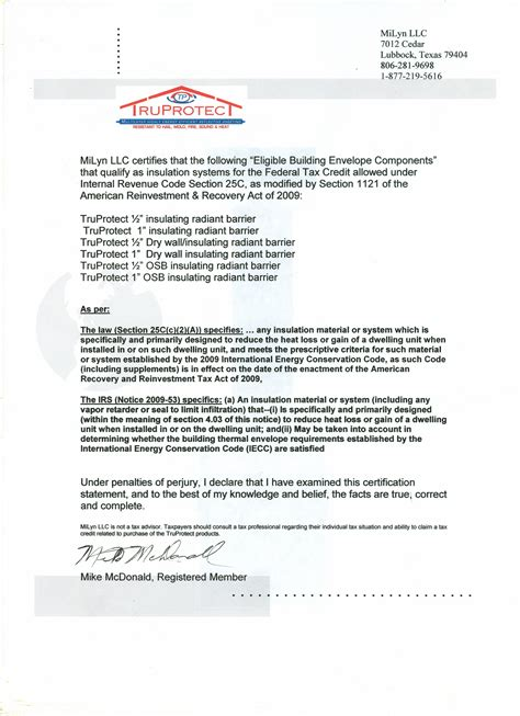 Endorsement Letter Sle For Product Inclusion Truprotect 100 Green Insulation