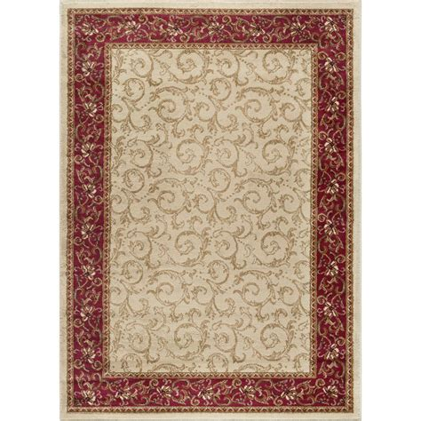 3 X 6 Area Rugs Tayse Rugs Elegance Beige 9 Ft 3 In X 12 Ft 6 In Indoor Area Rug 5402 Ivory 9x13 The Home