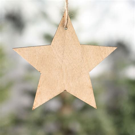 Unfinished Wood Star Laser Cut Ornaments   Wood Stars