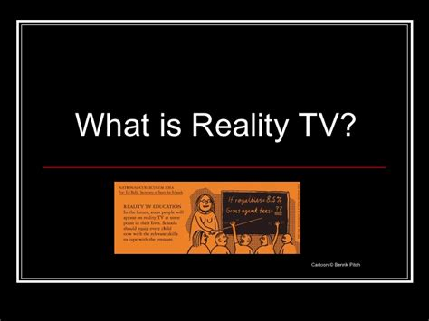 24 pictures of reality tv intro to reality tv