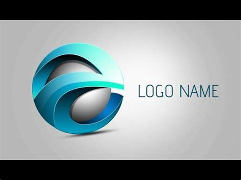 logo design in photoshop youtube photoshop tutorial 3d logo design element youtube