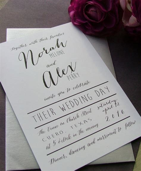 Einfache Hochzeitseinladungen by Black And White Modern Wedding Invitations By