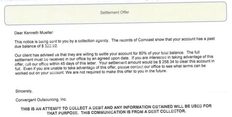 Customer Collection Letter Comcast Sent Collection Agencies After Customer Who Paid All His Bills Ars Technica