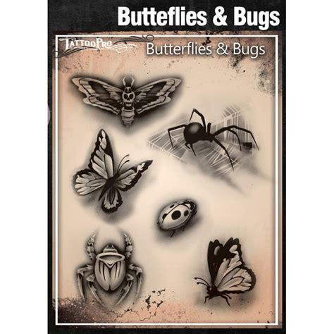 airbrush tattoo stencils airbrush pro stencil butterflies and bugs