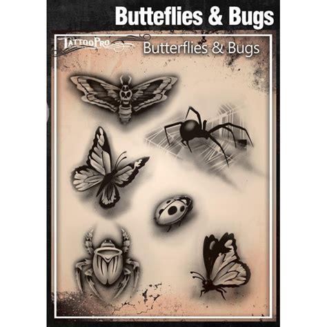 airbrush tattoo pro stencil butterflies  bugs