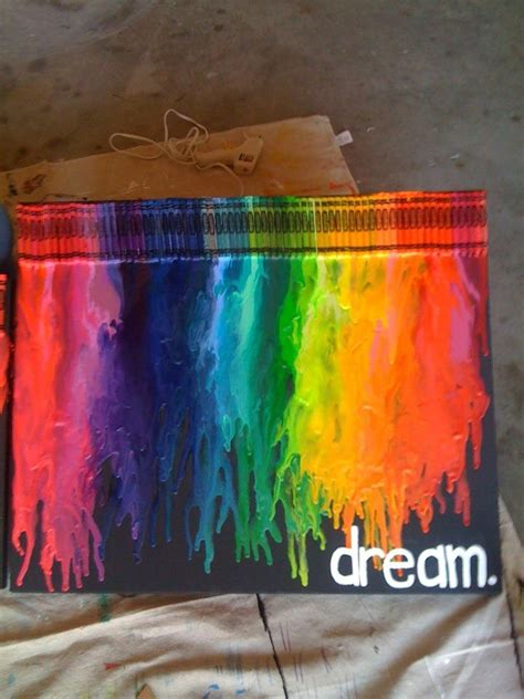 Crayon And Hairdryer canvas crayons dryer done crafts things you can make