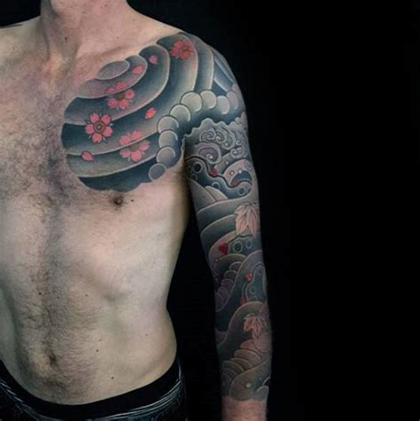 50 japanese cloud tattoo designs for men floating ink ideas