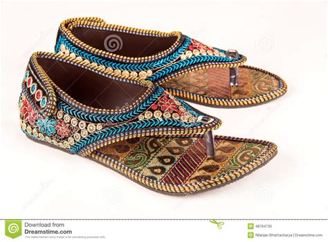 traditional indian ethnic sandals stock image image of